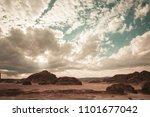 egypt sinai desert view rocky...   Shutterstock . vector #1101677042