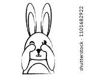 cute rabbit design | Shutterstock .eps vector #1101682922
