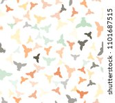 seamless vector pattern with... | Shutterstock .eps vector #1101687515