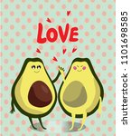 hand drawn. cute card. love... | Shutterstock .eps vector #1101698585