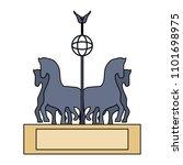 brandenburg gate design | Shutterstock .eps vector #1101698975