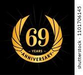 69 years anniversary. elegant... | Shutterstock .eps vector #1101706145