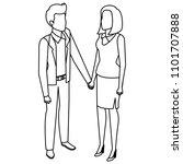 business couple avatars...   Shutterstock .eps vector #1101707888