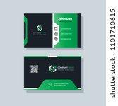 modern business card template... | Shutterstock .eps vector #1101710615