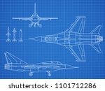 military jet aircraft drawing... | Shutterstock . vector #1101712286