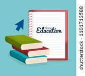 on line education with books | Shutterstock .eps vector #1101713588
