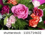 luxurious bouquet of roses and... | Shutterstock . vector #1101714632