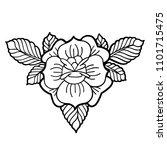 graphic floral vignette... | Shutterstock .eps vector #1101715475