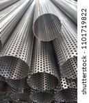 stainless steel perforated tubes | Shutterstock . vector #1101719822