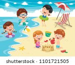 vector illustration of kids... | Shutterstock .eps vector #1101721505