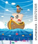 vector illustration of kids... | Shutterstock .eps vector #1101721535