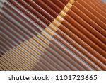 parallel lath structure. tilt...   Shutterstock . vector #1101723665