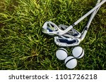 equipment for playing golf. | Shutterstock . vector #1101726218
