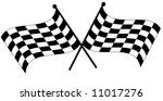two crossed waving black and... | Shutterstock .eps vector #11017276