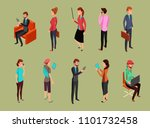 different office people sitting ... | Shutterstock . vector #1101732458