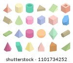 isometric 3d geometric color... | Shutterstock . vector #1101734252