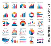 color finance data chart icons. ... | Shutterstock . vector #1101734405
