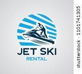 jet ski logo designs template | Shutterstock .eps vector #1101741305