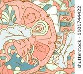 seamless mehndi vector pattern. ... | Shutterstock .eps vector #1101744422