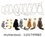 cats looking up sideways in a...   Shutterstock .eps vector #1101749885