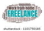 freelance or self employed word ... | Shutterstock . vector #1101750185