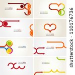 business card templates | Shutterstock .eps vector #110176736