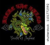 trendy design embroidered japan ... | Shutterstock .eps vector #1101772592