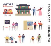 culture day people who enjoy... | Shutterstock .eps vector #1101778088