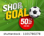 shop for goal sale  vector... | Shutterstock .eps vector #1101780278