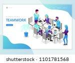 isometric business people... | Shutterstock .eps vector #1101781568