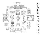lodging icons set. outline set...   Shutterstock .eps vector #1101783698