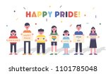 lgbt rainbow pride festival day ... | Shutterstock .eps vector #1101785048