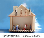 miniature houses and miniature...   Shutterstock . vector #1101785198