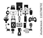 sleeping quarters icons set.... | Shutterstock .eps vector #1101788732