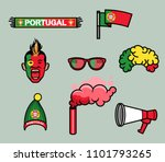 gear kit collection of portugal ... | Shutterstock .eps vector #1101793265