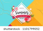 summer sale background layout... | Shutterstock .eps vector #1101799052
