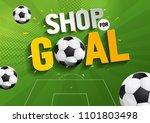 shop for goal sale  vector... | Shutterstock .eps vector #1101803498