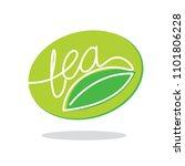 symbol emblem green tea with... | Shutterstock .eps vector #1101806228