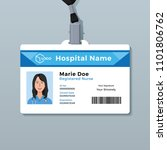 nurse id card. medical identity ... | Shutterstock .eps vector #1101806762