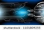 hud futuristic element status... | Shutterstock .eps vector #1101809255