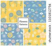 flower vector pattern for web... | Shutterstock .eps vector #1101812756
