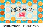 summer sale background layout... | Shutterstock .eps vector #1101815972