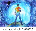 human and spirit powerful... | Shutterstock . vector #1101816098