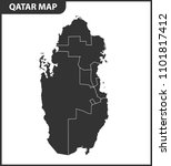 the detailed map of qatar with... | Shutterstock . vector #1101817412