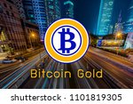 concept of bitcoin gold or btg...   Shutterstock . vector #1101819305