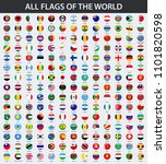 all flags of the world in... | Shutterstock . vector #1101820598