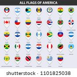 all flags of the countries of... | Shutterstock . vector #1101825038