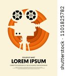 movie and film modern retro... | Shutterstock .eps vector #1101825782