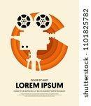movie and film modern retro...   Shutterstock .eps vector #1101825782