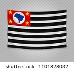 realistic hanging flag of sao... | Shutterstock .eps vector #1101828032